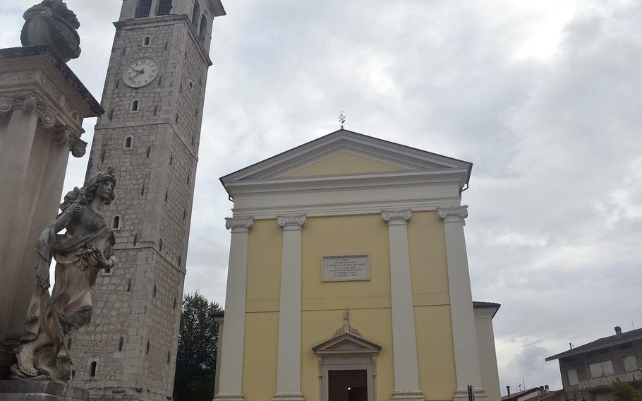 You can't miss seeing the Saint John the Baptist Church in Malnisio while driving along the SP29 that runs along the base of the Alps near Aviano Air Base, which Americans commonly refer to as the ''Mountain Highway.'' It's one of dozens of churches within a 15-minute drive of the base.