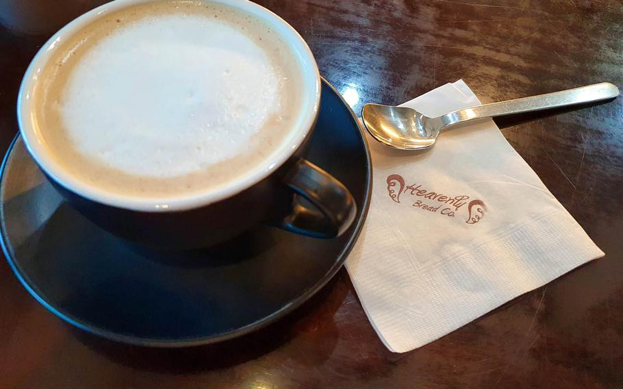 The tasty vanilla latte from Heavenly Bread near Osan Air Base, South Korea, can be ordered to your preference, hot or cold.