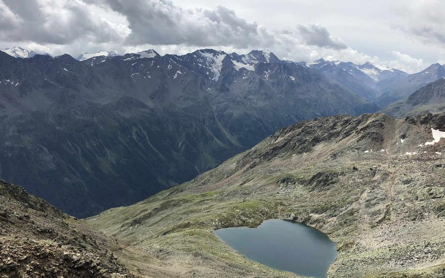 In the Oetzal in Austria's Tirol region, there are more than 200 mountains in the 10,000-foot range. One of them, the Gaislachkogel, offers a great view from the top.