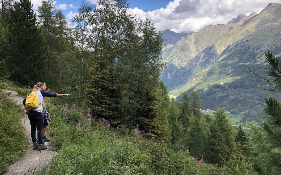 Numerous hiking trails in the area around the Austrian mountain town of Oetz offer great views that keep kids interested on long treks.