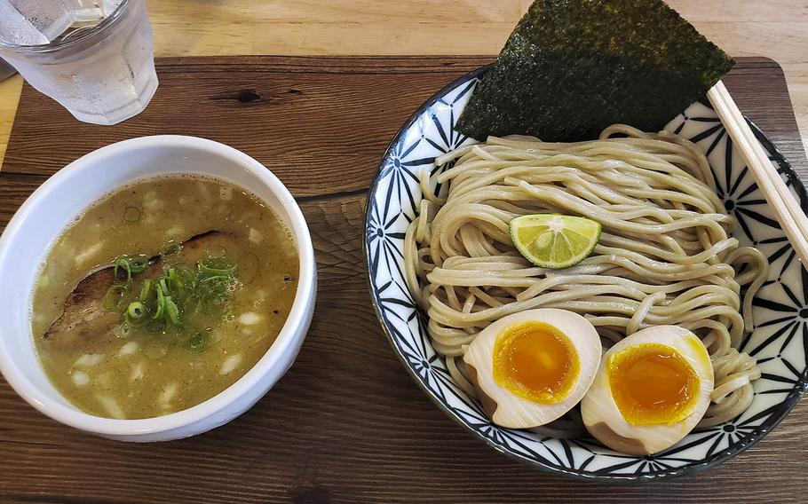 This serving of tsukemen-style udon from 611 Ramen near Yokota Air Base, Japan, was packed with flavor.