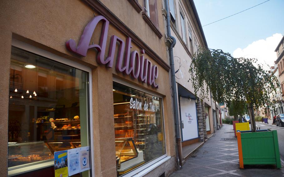 Patisserie Antoine in Bitche, France, sells an array of pastries and cakes, and warm or cold beverages. Everything can be eaten in the cafe, where tables are spaced far apart to prevent the spread of the coronavirus, or ordered to go.