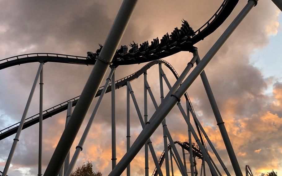 The Silver Star coaster, one of the largest roller coasters in Europa Park in Rust, Germany,boasts a top speed of more than 80 mph.