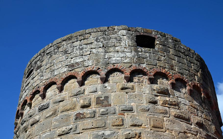 The Dicker Turn, or Fat Tower, in Bad Bergzabern, Germany, was built around 1300 and was part of the town's medieval fortifications.