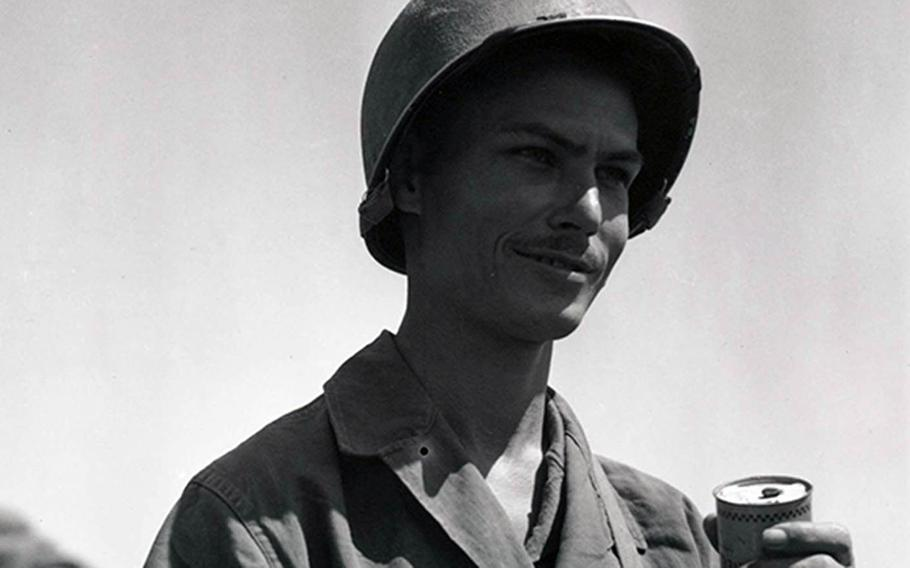 Army Pfc. Desmond Doss is shown in this undated photo.