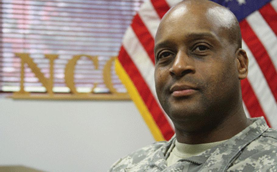 Command Sgt. Maj. Stoney Crump.