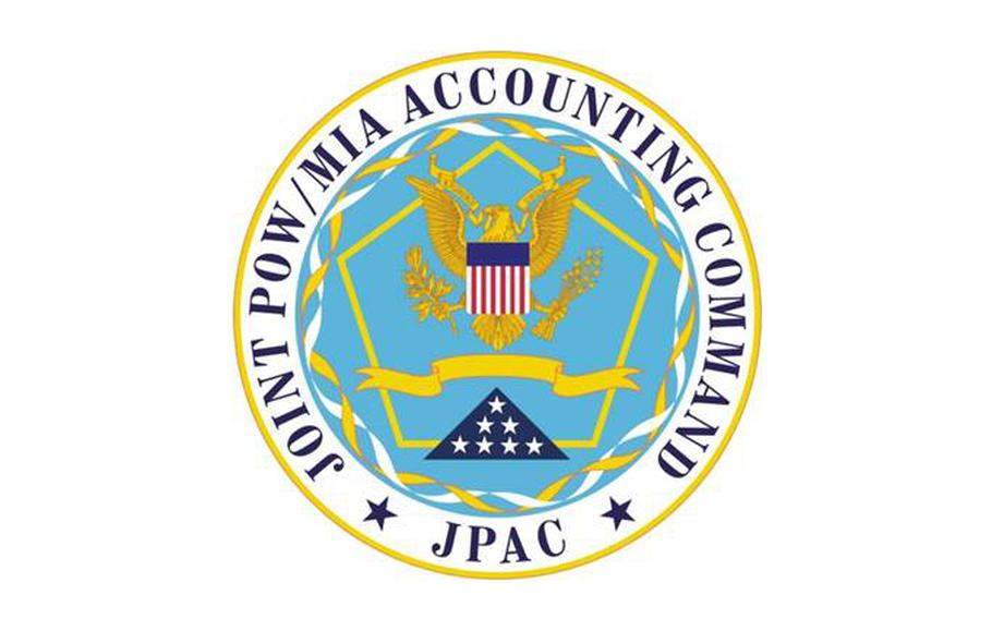 Logo of the Joint POW/MIA Accounting Command, headquartered in Hawaii.