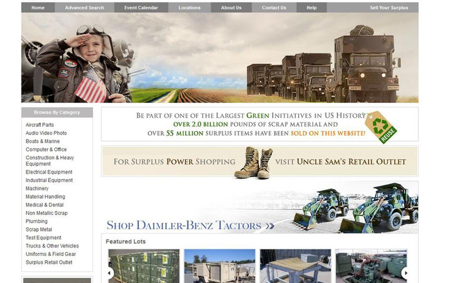 On the Government Liquidation website, prospective buyers can browse through military trucks, horses, even scrap metal.