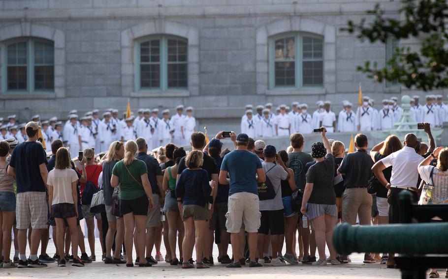 Naval Academy Parents' Weekend marks the first time most plebes get to see their parents since Induction Day at the beginning of the summer. While it started on Thursday, activities pick up on Friday and continue through Sunday.