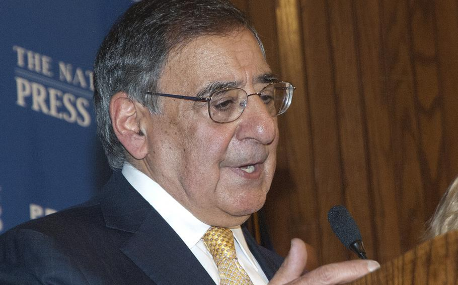Secretary of Defense Leon Panetta addresses a luncheon crowd at the National Press Club in Washington, D.C., where he spoke Tuesday on the future of the U.S. military.