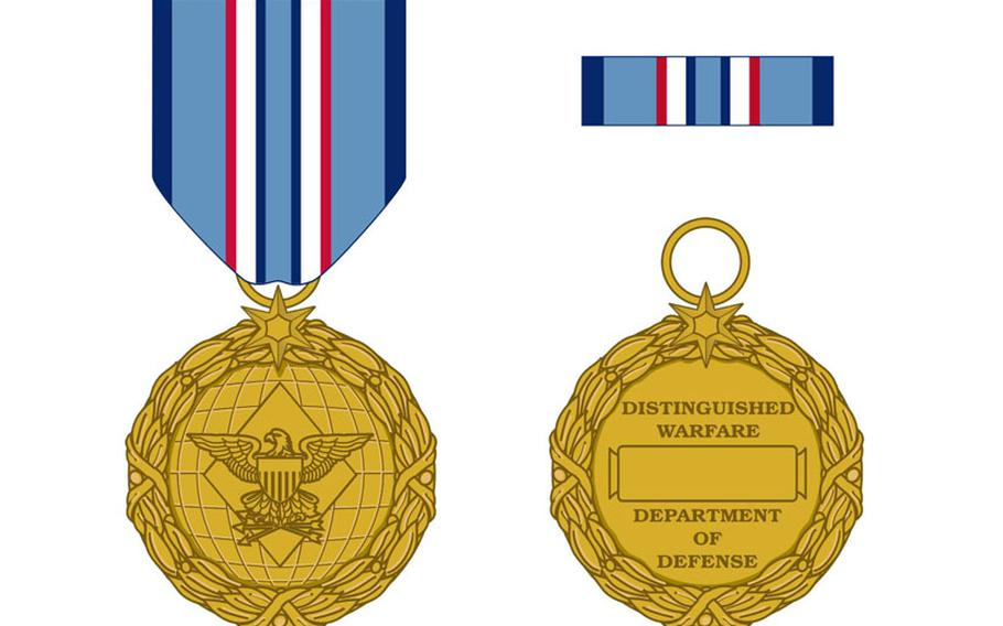 The Distinguished Warfare Medal, which could go to servicemembers who never set foot in a combat zone, but launch drone strikes or cyberattacks that kill or disable an enemy.