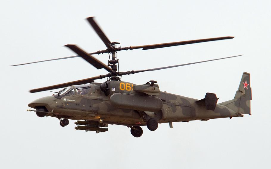 A Kamov Ka-52 Alligator