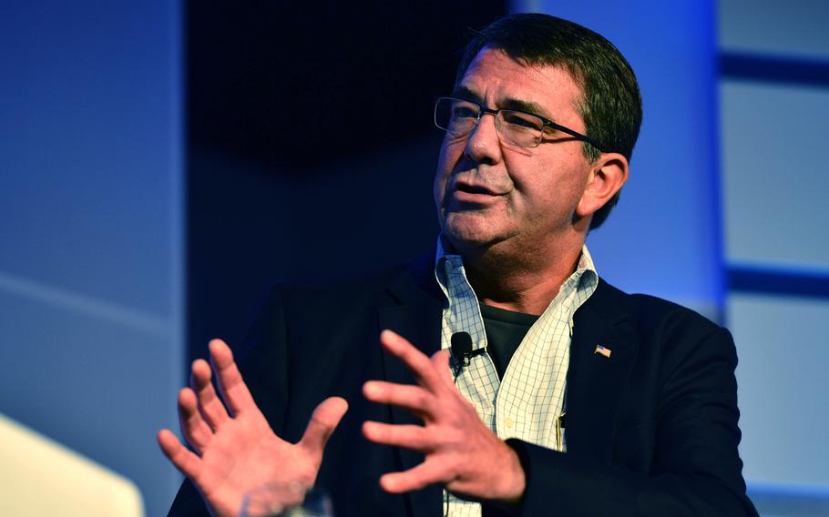 Deputy Secretary of Defense Ashton B. Carter responds to a question during a question and answer period at the annual Aspen Institute Security Forum in Aspen, Colo., July 18, 2013.