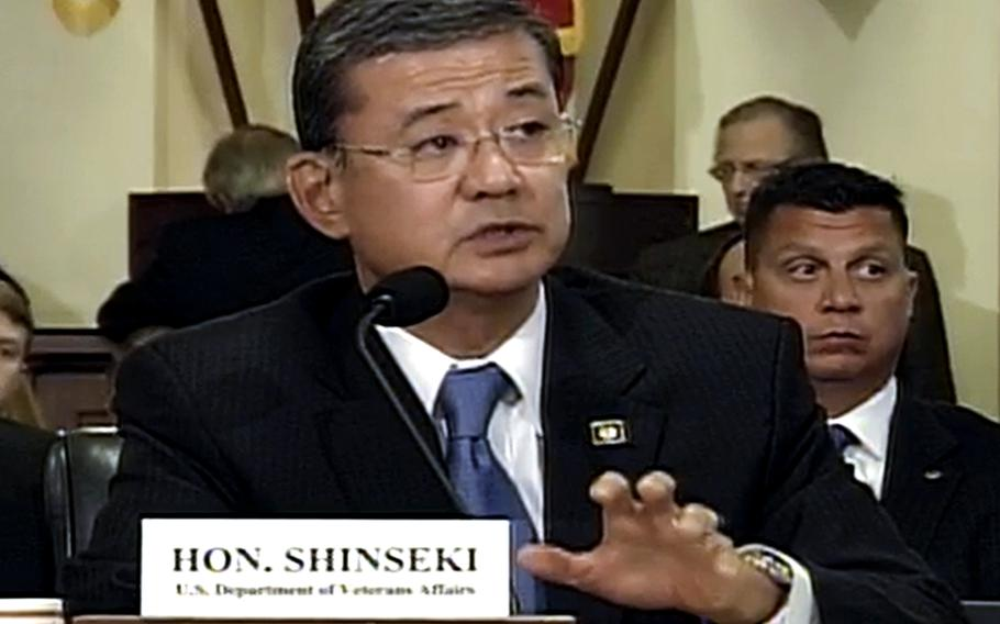 Veterans Affairs Secretary Eric Shinseki, at a House Veterans Affairs Committee on Wednesday, October 9, 2013.