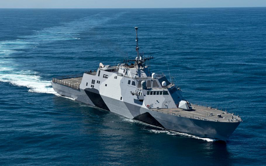 The Navy is phasing in littoral combat ships such as the USS Freedom to replace aging Oliver Hazard Perry-class frigates, Avenger-class mine countermeasure ships and Osprey-class coastal mine hunters.