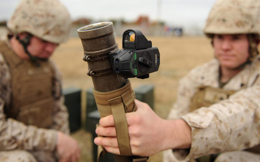 The Office of Naval Research's new Fire Control Unit 60mm Mortar sight also contains an onboard ballistic library allowing for multiple cartridge employment.