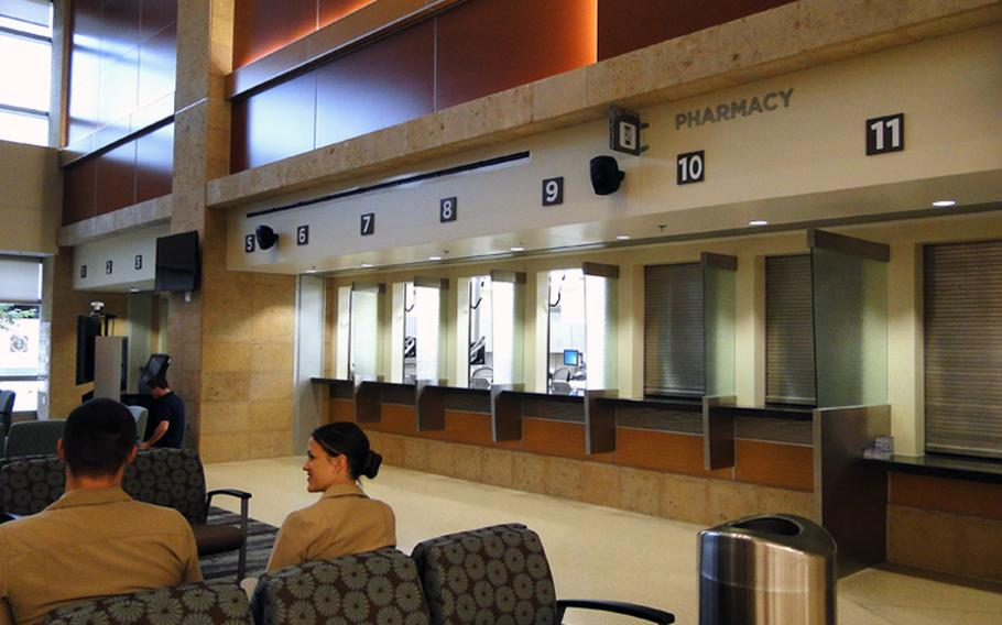 The replacement Naval Hospital at Camp Pendleton, which opens in December, has 11 windows for filling prescriptions. The current hospital has only 8 windows and fills more than 800 prescriptions per day.