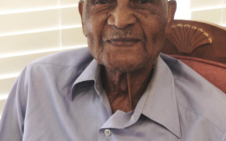 WWII Navy Veteran Elmer Hill, the second oldest veteran living in America.