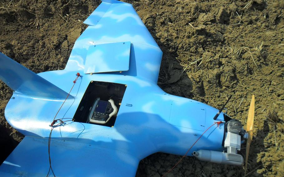This drone, discovered March 24, 2014, near the Demilitarized Zone, may have flown over the South Korean president's office and residence in Seoul and taken photographs.