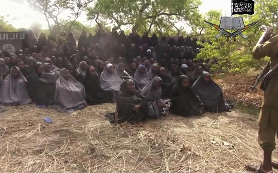 A video taken from Nigeria's Boko Haram terrorist group's website alleges to show dozens of abducted schoolgirls, covered in jihab and praying in Arabic. It is the first public sight of the girls since more than 300 were kidnapped from a school in northeastern  Nigeria the night of April 14, 2014.