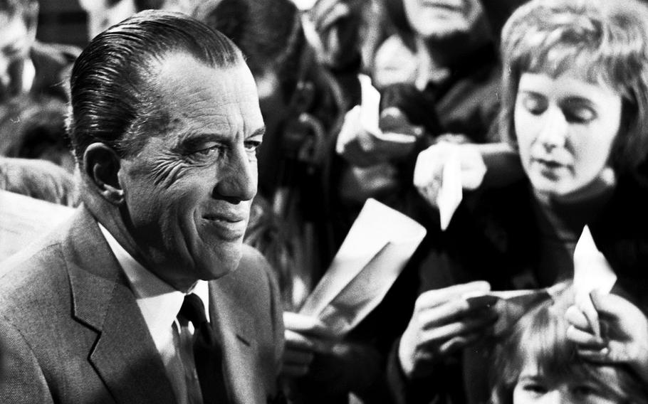 Ed Sullivan meets his fans at the Circus Krone in Munich in November, 1965.