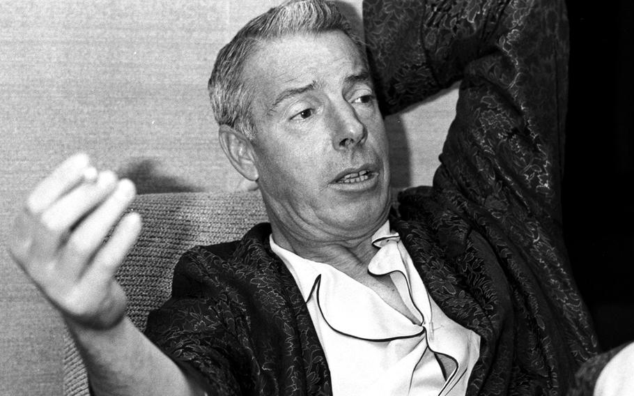 Joe DiMaggio, during a 1966 interview at Tokyo's Imperial Hotel.