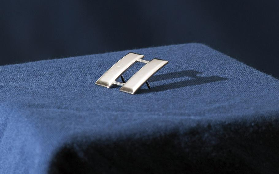 The rank of captain has been symbolized by double silver bars since 1832, and is sometimes referred to as railroad tracks.