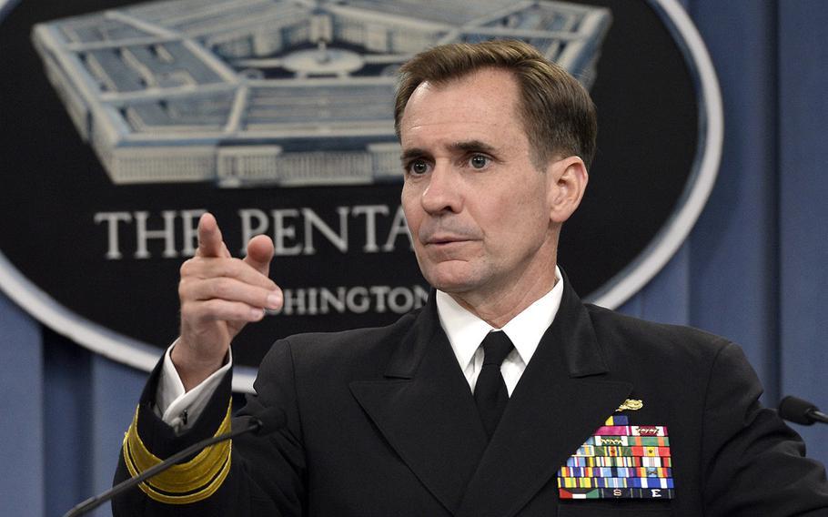 Pentagon Press Secretary Navy Rear Adm. John Kirby.