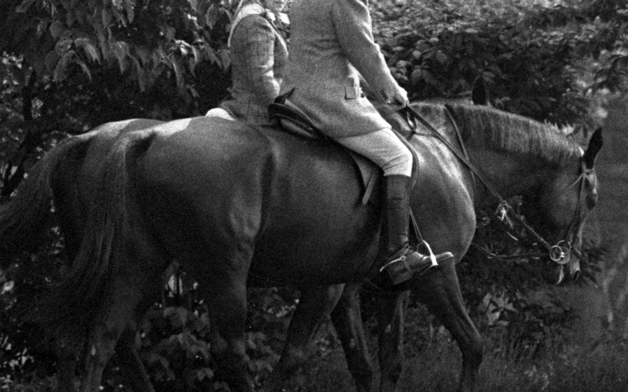President Ronald Reagan and Queen Elizabeth II, out for a ride at Windsor Castle in 1982.