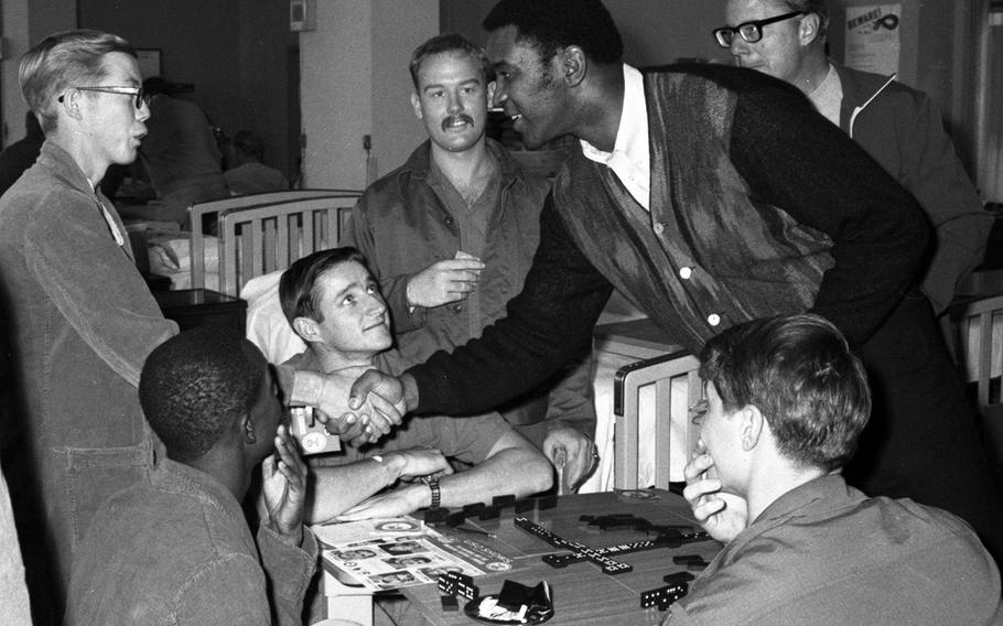 Marv Fleming at the U.S. Army Hospital on Camp Oji, Japan, in January, 1969.