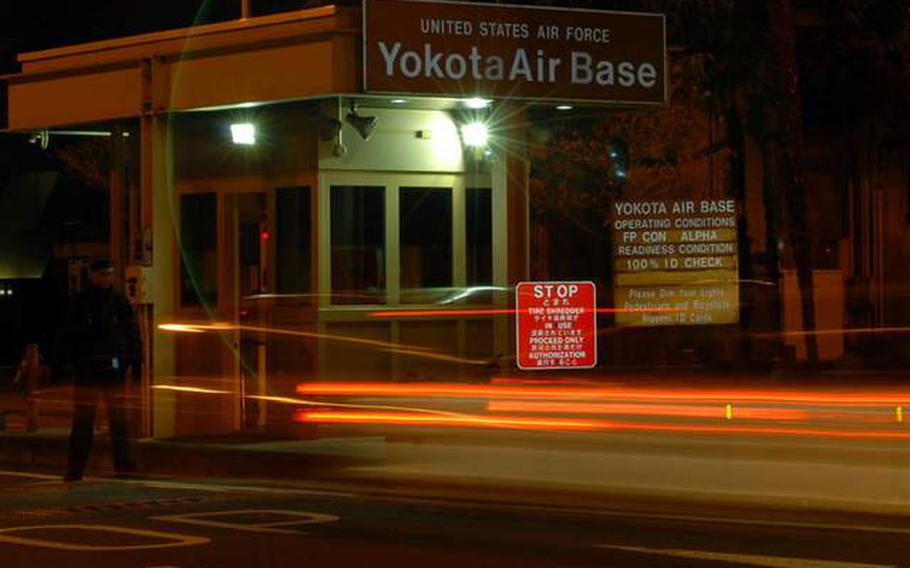 The Yokota Air Base, Japan Fussa gate will be closed to vehicle traffic 10 p.m.-6 a.m. and closed to pedestrians from 1 a.m. to 6 a.m.