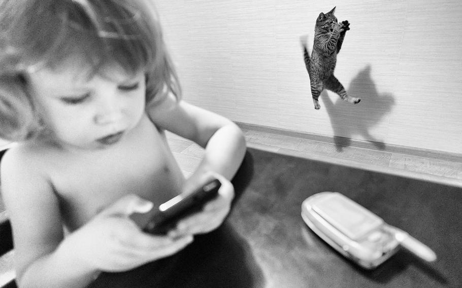 """Ramil Gilvanov, """"Cat Mother, 2""""   Series of images from the life of photographer's family."""