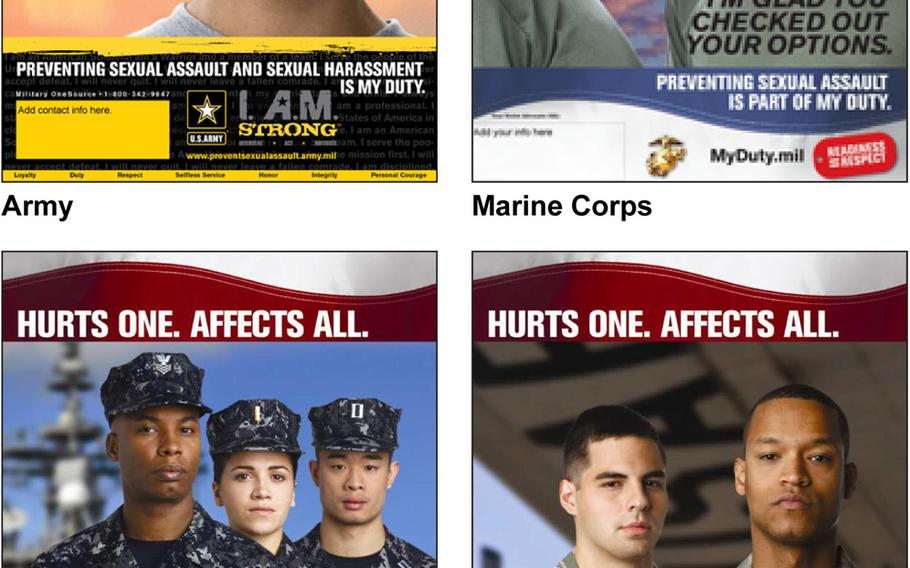 The services have not clearly depicted male victims of sexual assault in outreach material intended to increase awareness because the DOD has focused mostly on female victims, according to a report by the Government Accountability Office.
