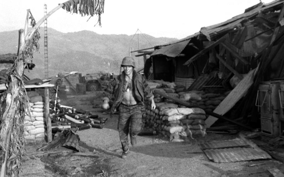 When out in the open, the best policy at the beleaguered Dak Seang camp in April, 1970 was to move quickly.