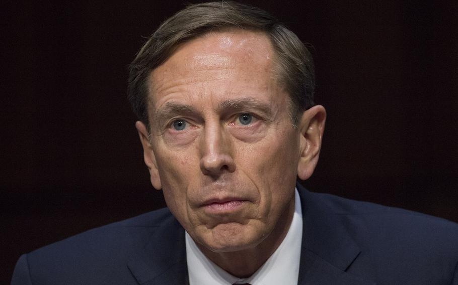 Retired Gen. David Petraeus at a Senate hearing in September, 2015.