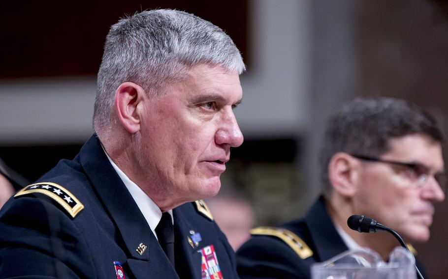 Commander, U.S. Africa Command Gen. David M. Rodriguez, testifies during an Armed Services Committee hearing, March 8, 2016 on Capitol Hill.