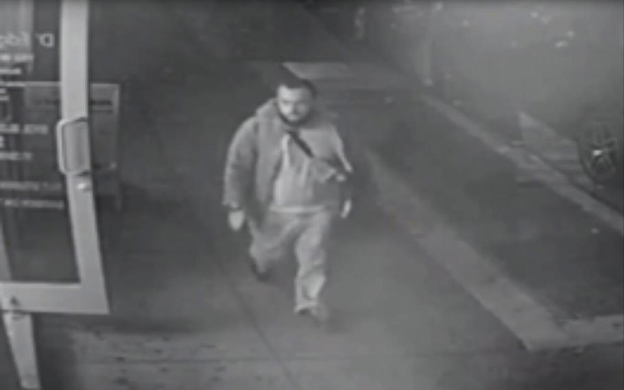This frame from surveillance video released by New Jersey State Police shows Ahmad Khan Rahami on Monday, Sept. 19, 2016. Rahami is a suspect in the bombings that rocked the Chelsea neighborhood of New York and the New Jersey shore town Seaside Park over the weekend.