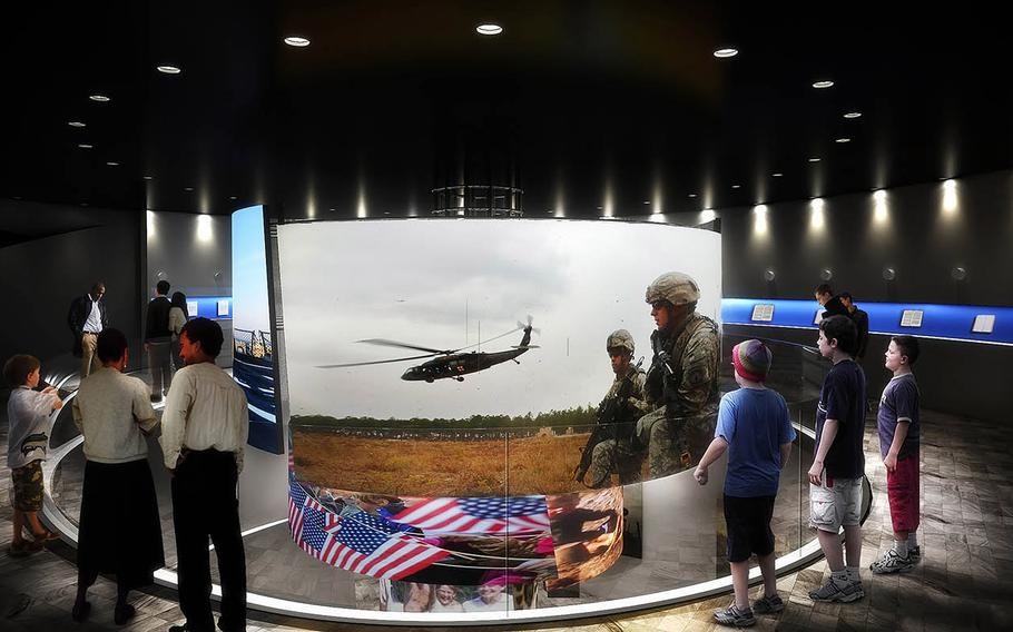 A 3D film will play in the center of the museum, surrounded by an exhibit of letters from servicemembers to their families.