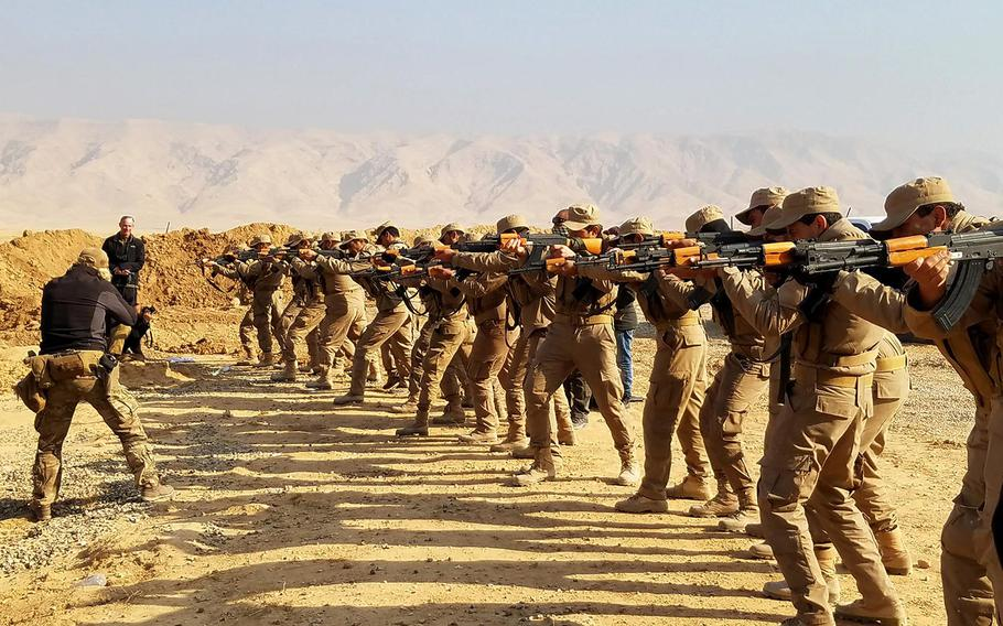 U.S. and coalition special forces started training new recruits for Hashd al Shaabi militias in December 2016 at a facility about 55 miles south of Mosul.
