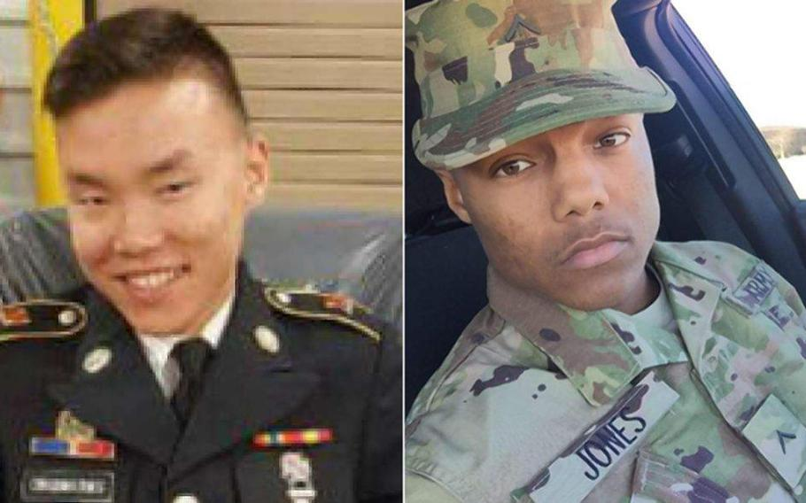 Fort Bliss soldiers Jake Obad-Mathis and Melvin Jones