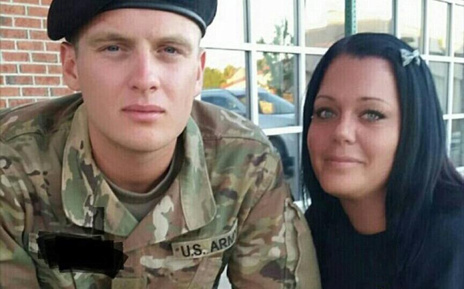 Army Pvt. Austin Freni and his mother, Lori.