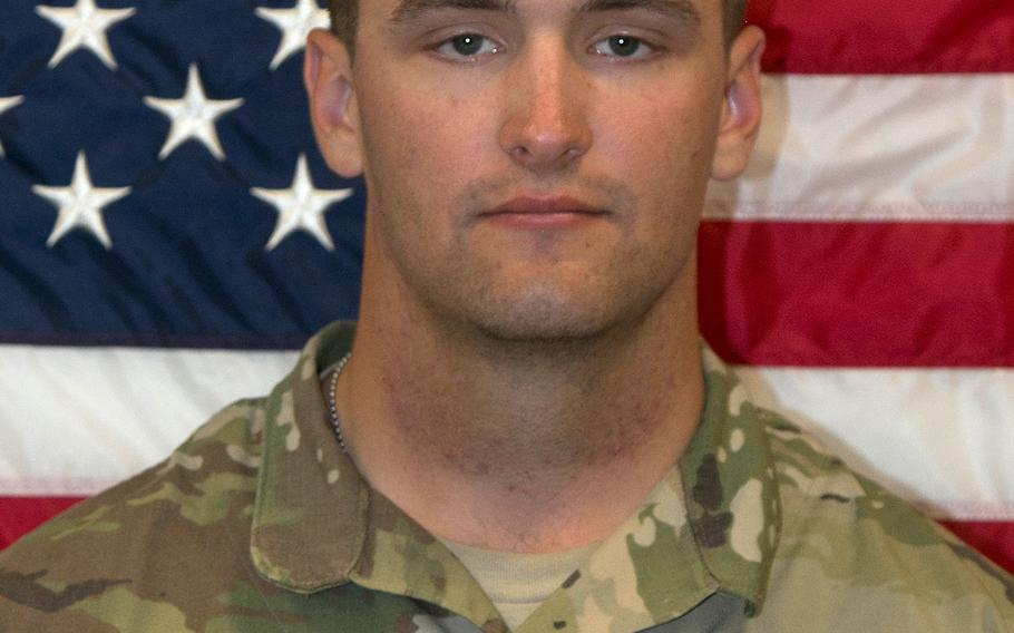 U.S. Army Pfc. Brian Odiorne of Ware, Mass. died in Al Anbar Province, Iraq, on Tuesday, Feb. 21, 2017.