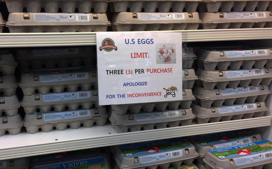 Commissary customers in South Korea are facing limits on the number of U.S. eggs they can purchase as the country suffers from its worst-ever outbreak of bird flu.