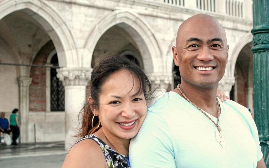 Gail and Kato Martinez in Venice, Italy in 2015.