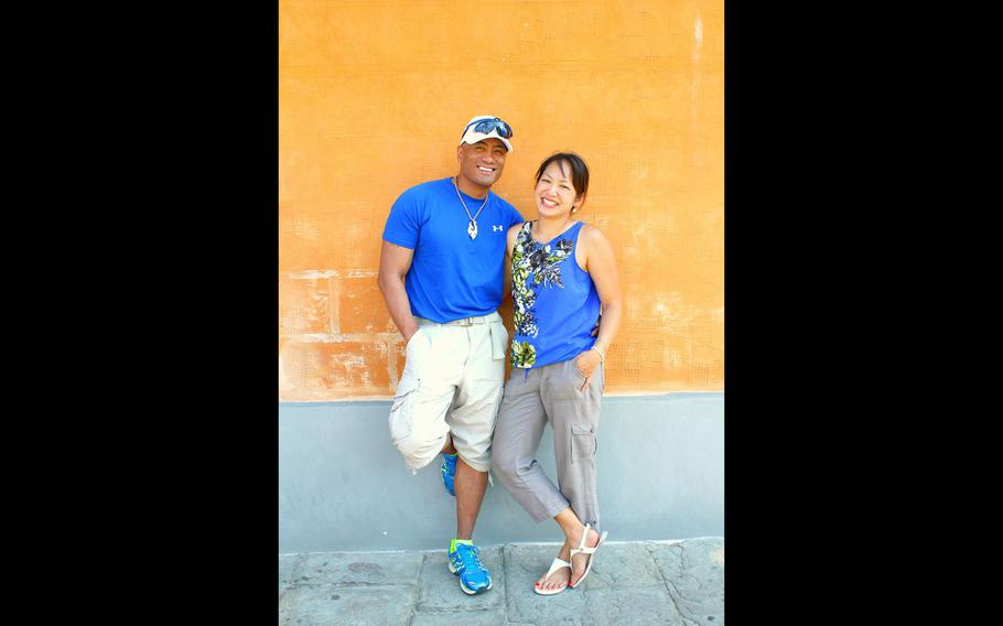 Kato and Gail Martinez in Pisa, Italy, in 2015.