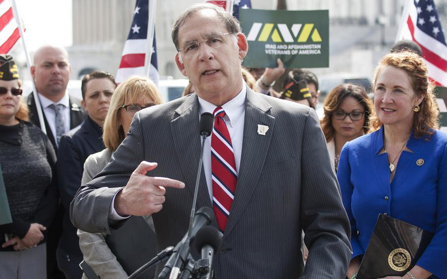 Sen. John Boozman, R-Ark., speaks at a Capitol Hill press conference on March 21, 2017.