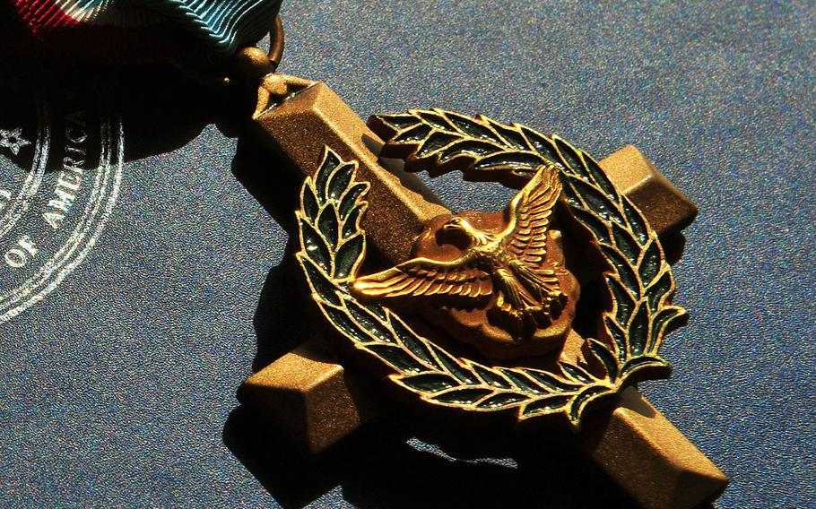The Air Force Cross is second only to the Medal of Honor, and is awarded for extraordinary heroism in the face of danger.