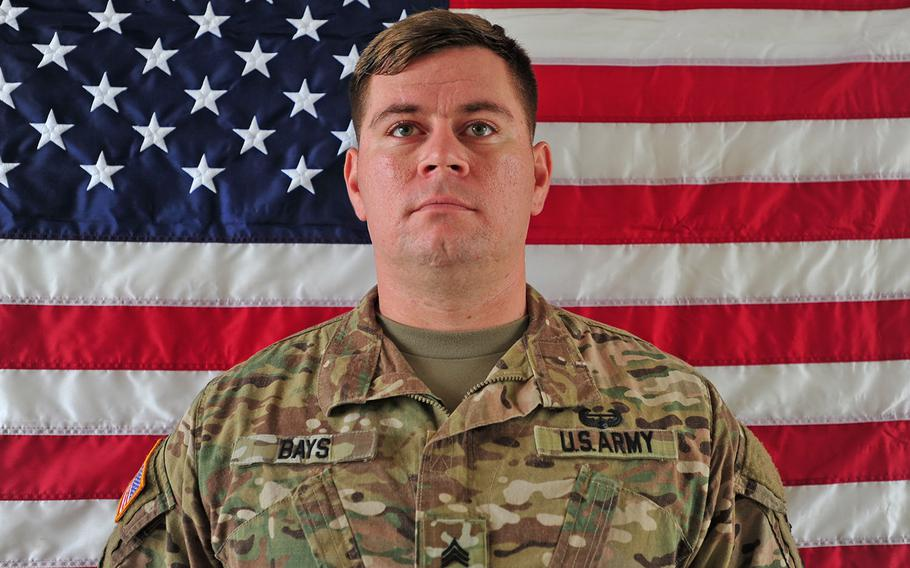 Sgt. William M. Bays was killed in a green-on-blue attack in Afghanistan on Saturday, June 10, 2017.