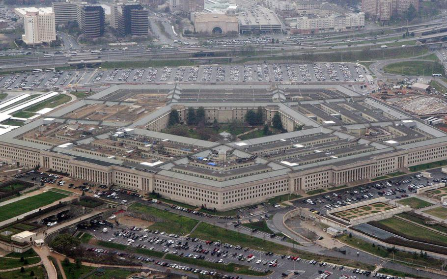 The Pentagon is seen in this aerial view in Washington, D.C. on March 27, 2008.