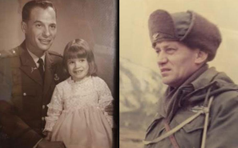 Lt. Col. Bernard Landau, pictured at left with his daughter Shawn Taylor, is now 87 and suffering from Alzheimer's disease. On the right, John Gavin, Taylor's grandfather and Landau's father-in-law, died of Alzheimer's disease in 1987. He was an Army colonel and a West Point graduate. Taylor created the advocacy group VeteransAgainstAlzheimer's to shed light on the greater risk among veterans to develop the disease.